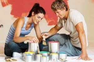 couple with paint