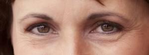 woman smiling eyes