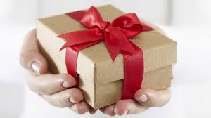 gift and hands